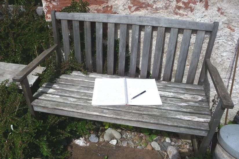 bench + paper